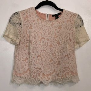 Forever 21 Lace Cropped Blouse